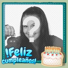 Fotomontaje para hacer una postal de felicitación gratuita - Fotoefectos Funny Happy Birthday Images, Birthday Frames, Gifs, Babys, Bedroom, Ideas, Frases, Happy Birthday Grandson, Happy Birthday Photos