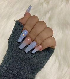 Top 32 Acrylic Nail Designs of 2020 : Page 4 of 32 : Creative Vision Design - Acrylic nails Blue Acrylic Nails, Summer Acrylic Nails, Acrylic Nail Designs, Summer Nails, Long Nail Designs, Blue Ombre Nails, Simple Acrylic Nails, Baby Blue Nails, Light Blue Nails