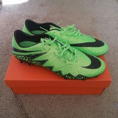sale retailer 875bb 809d7 Nike soccer cleats BRAND NEW Nike Hypervenom soccer cleats! New electric  green and black cleats