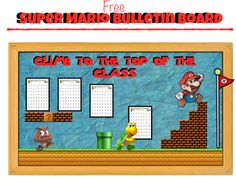 Super Mario Free: Bulletin Board (Climb to the top of th