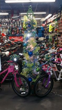 6ft Bike Part Tree For The Bikeshop Aiea Hawaii 2015 Decorated