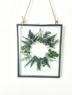 NEW pressed botanical wreath wall hanging Botanical Decor, Pressed Flower Art, Creation Deco, Farmhouse Wall Decor, Handmade Home, Handmade Kitchens, Hanging Plants, Plants Indoor, Indoor Garden