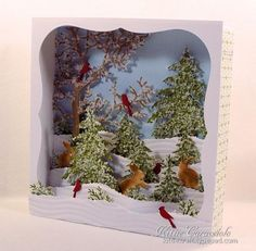 Candy Box Winter Diorama Scene by kittie747 - Cards and Paper Crafts at Splitcoaststampers