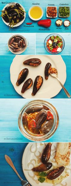 How to make Pickled Eggplants stuffed with walnuts, garlic, cilantro + red peppers, MAKDOUS #middleeasternfood