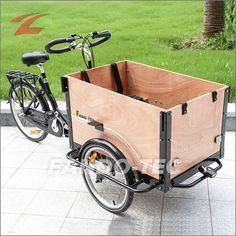 FANO-TEC Transportrad mit gelber Kiste, Shimano 3-Gang-Nabenschaltung, Shimano Feststellbremse, schwarz FT-9005 Farbe:S/G
