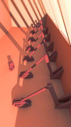Toby Mattinson Animation – Character designer and concept artist.  Engine room. #lowpoly #autodesk #maya #animator #aftereffects #titlshiftlens #red #3d #cgartist #illustrator #sculpting #conceptartist #animation #film #factory #engine #evening #tobymattinsonanimation