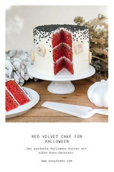 Halloween Torte Backen, Red Velvet Cake, Foxes, Cosy, Panna Cotta, Ethnic Recipes, Red Cake, Yummy Cakes, Sprinkles