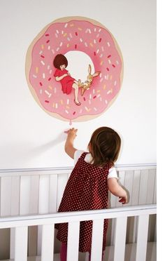 Why, yes, I'd like a pink Donut Wall Decal by Belle and Boo. Wouldn't you?