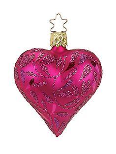 Inge's Christmas Decor Hearts Delight Glass Ornament Pink Christmas Ornaments, Christmas Colors, Glass Ornaments, Vintage Christmas, Christmas Holidays, Christmas Decorations, Holiday Decor, Fabric Wreath, Turquoise