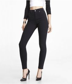 HIGH RISE ANKLE JEAN LEGGING | Express
