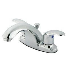 """Kingston Brass KB7641LL Legacy 4"""" Lavatory Faucet With Retail Pop-Up, Polished Chrome - Price: $89.95 & FREE Shipping over $99"""