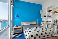 Brooklyn Penthouse - Contemporary - Bedroom - New York - by Audrey Matlock Architect Minimalist House Design, Minimalist Bedroom, Minimalist Home, Simple Bedroom Design, Bedroom False Ceiling Design, Blue Bedroom Decor, Aesthetic Bedroom, Interior Exterior, Contemporary Bedroom