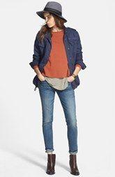 Hinge® Jacket, J Brand Cashmere Sweater & Treasure&Bond Skinny Jeans