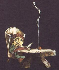 Bilbo writing his story
