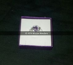 Amethyst bead ring  £15 plus £1.50p&p  www.wiccanwonders.co.uk Beaded Rings, Wiccan, Amethyst, Jewellery, Beads, O Beads, Jewelery, Jewelry Shop, Pearl Rings