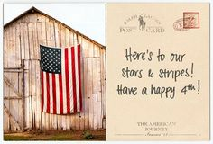 Here's to our Stars & Stripes! Have a Happy 4th!