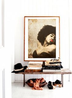 Ebony woman Mixed media collage Photo woman por SoulArtCorner