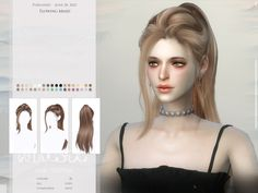 wingssims' WINGS-TO0713-Flowing braid Sims 4 Mods Clothes, Sims 4 Clothing, Sims 4 Tattoos, Sims New, All Hairstyles, Female Hairstyles, Mod Hair, Pelo Sims, Sims Baby