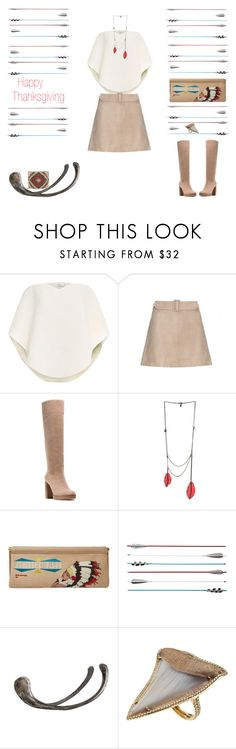 """Great Spirit"" by southernreef ❤ liked on Polyvore featuring Delpozo, Calvin Klein Collection, MICHAEL Michael Kors, Comptoir Des Cotonniers, Charlotte Olympia, Fletcher & Fox, Arteriors, Anita Ko, Cocobelle and thanksgiving"