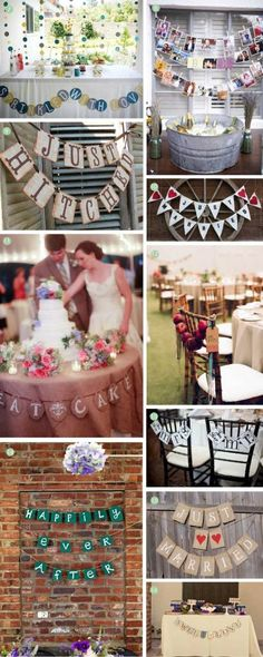 DIY wedding banner ... Wedding ideas for brides, grooms, parents & planners ... https://itunes.apple.com/us/app/the-gold-wedding-planner/id498112599?ls=1=8 … plus how to organise an entire wedding, without overspending ♥ The Gold Wedding Planner iPhone App ♥