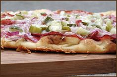 Hot #Pastrami Flatbread from veryculinary.com #recipe #cheese
