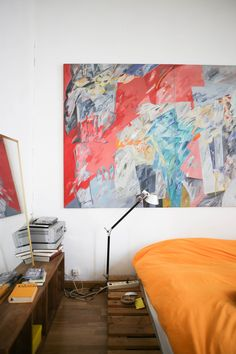 An Ocher-Colored & Art-Filled Home in Valencia