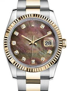 Rolex 116233 dkmdo Datejust Steel and Yellow Gold. #rolex