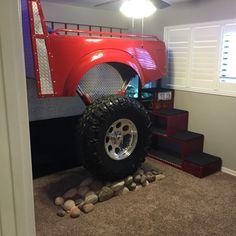 Monster fire truck bed