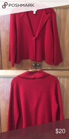 Red Chico's Jacket •Worn a couple times/in very good condition Chico's Jackets & Coats