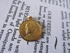 Religious MEDALLION/Pendant Pope John Paul II 1983-84 Gold Filled Collectible Catholic MCML Humane Redemptionis Ioanne Paulo P P I I by GrammiesCupboard on Etsy