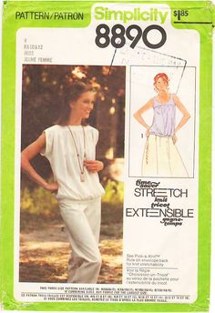 Vintage Pattern Simplicity 8890 Misses' Pullover tops 70s Size 8-12 B31.5 - 34 | Flickr - Photo Sharing!