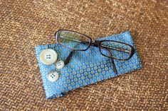 Neck-tie turned eye glasses holder.  Cute and easy!
