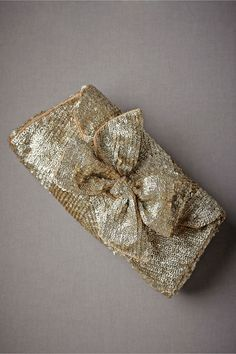 Sequin Bow Clutch