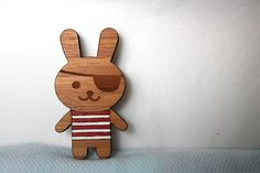 Laser Cut Gift #brooch #bunny #rabbit