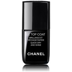 Chanel Beauty Le Top Coat Quick Dry & Shine/0.4 Oz. ($28) ❤ liked on Polyvore featuring beauty products, nail care, nail polish, beauty, makeup, nails, pink, shiny nail polish and glossy nail polish
