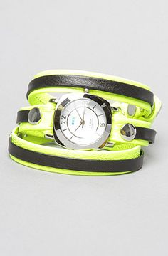 The Odyssey Layer Watch in Neon Yellow and Black With Silver by La Mer Shop @ #Karmaloop.com Use Repcode Blee301