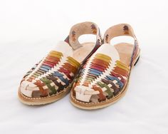 14d2d574dc5a3 Mexican Huarache Sandals - Women s Eldora Style Multi Color