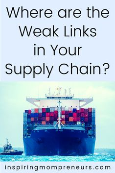 An efficient supply chain is crucial for the success of any business that relies on delivery and fulfilment. Where are the weak links in your supply chain? #weaklinks #supplychain #supplychainmanagement #imports #exports #logistics #warehousing #businesstips Supply Chain Management, Fix You, Business Tips, Delivery, Success, Link, Inspiration, Biblical Inspiration, Inhalation