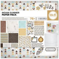 We R Memory Keepers - Indian Summer Collection - 12 x 12 Paper Pack at Scrapbook.com