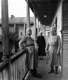 Elderly Women at Home in the French Quarter, New Orleans, Louisiana, 1946