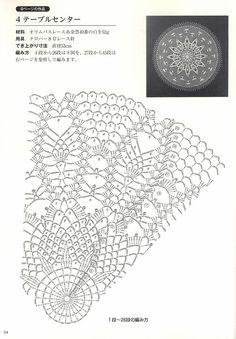 Japanese book and handicrafts - Suteki Pineapple Crochet Laces 2011 Free Crochet Doily Patterns, Crochet Doily Diagram, Crochet Motifs, Lace Patterns, Filet Crochet, Crochet Stitches, Crochet Dollies, Crochet Buttons, Thread Crochet