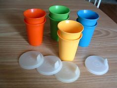 Tupperware Sippy Cups! ((totally never knew these were sippy cups! we have hundreds sans-lids.))