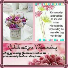 Birthday Wishes Quotes, Happy Birthday Meme, Birthday Greetings, Afrikaanse Quotes, Wish Quotes, Happy B Day, Birthday Board, Vs Pink, Projects To Try