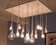 ampoules - suspension bois