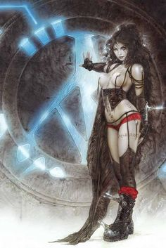 Luis Royo Subversive Beauty-The Dancer of Pain Fantasy Girl, Fantasy Women, Fantasy Rpg, Pin Up Posters, Fantasy Figures, Luis Royo, The Dancer, Art Costume, Beauty Book