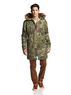 Alpha Industries Men's Slim Fit N-3B Parka (Spotted Camo)