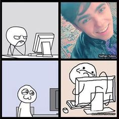 This is me. I just can't resist Nathan