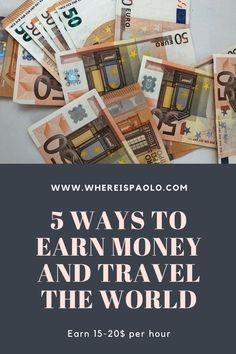 Travel Money, Budget Travel, Travel Tips, Travel Essentials, Travel Ideas, Ways To Earn Money, Earn Money From Home, How To Make Money, Money Tips