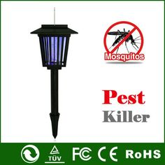 Solar Power Electric Mosquito Killer lamp Outdoor Pest Bug Zapper Mosquito Moth Wasp Fly Killer #Affiliate