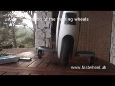 ▶ Fixation training wheels in self balancing electric unicycle fastwheel - YouTube
